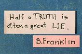 Half A Truth