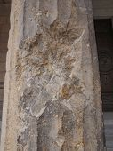 picture of raid  - Column damaged by air raid bombing during WW2 in Berlin Museumsinsel - JPG