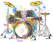 Drum Painting Vector Art