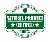 Guarantee label certifying a Natural Product