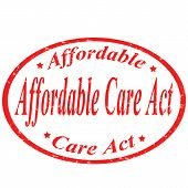 Affordable Care Act-stamp