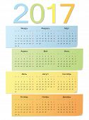 Russian Color Vector Calendar 2017