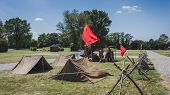 Vintage Russian Camp At Militalia In Milan, Italy