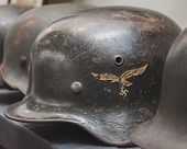 Nazi Helmet On Display At Militalia In Milan, Italy