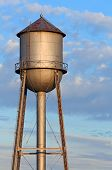 Metal Water Tower And Morning Sky