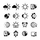 weather and time icons