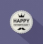 father's day card.vector illustration