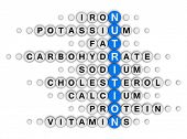 nutrition facts concept crossword puzzle