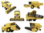 Collage Of Isolated agri truck