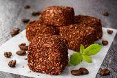Traditional turkish delight dessert