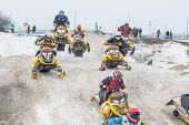 Sport racing on snowmobiles