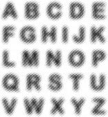vector hazy line font