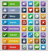 Web design buttons set. Illustration