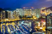 Aberdeen Typhoon Shelter at night