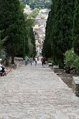 Calvary Steps in Pollensa on Mallorca Spain