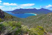 Wineglass Bay Beach, Freycinet Bay in Tasmania Australia