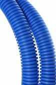 Blue corrugated pipe for electrical high-voltage cables