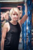Beautiful athlete woman after training