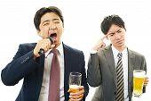 Portrait of a drunken men