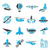 space and plane icons