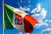 Italian Nautical Flag On Blue Sky