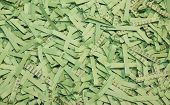 Green Shredded Paper As A Background