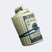 Money Roll Isolated On White