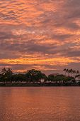 Honolulu Lagoon Sunset