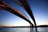 Night Photo Blue Water Bridge