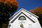 Old Country Church In Autumn