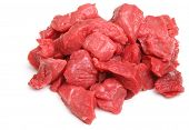 Fresh diced casserole or stewing beef steak.