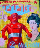 Street art Montreal japanese robot
