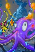 Street art Montreal octopus