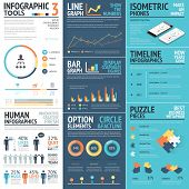 Corporate infographics vector elements in flat business colors