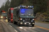 Classic Mercedes-benz Van With Led Lights