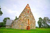 Ruin Of Palkane Old Stone Church, Finland
