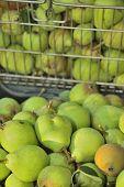 Sale Peas In Basket On Market