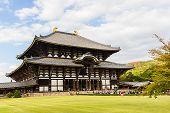 Todai-ji Temple In Nara, Japan Temple.