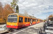 Train At The Station On The Top Of Mt. Uetliberg