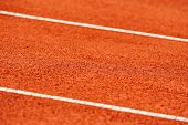 Sidelines Detail On A Tennis Court