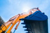picture of machinery  - Vehicle fleet with construction machinery of building or mining company - JPG