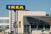 Ankara, Turkey - June 17, 2012:IKEA billboard in front of their own appliances retailer.