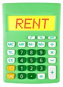 Calculator With Rent On Display