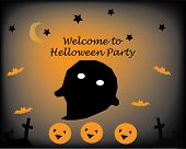 Halloween Party Pumpkin Casper Ghost