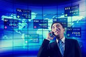 Stock Exchange Business Global Analyze Talk Phone Concept