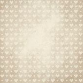 Old Paper Background With Hearts
