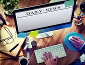 Digital Internet Online Daily News Concept