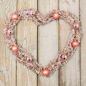 Salmon Colored Christmas Heart