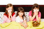 Little Girls With Flu