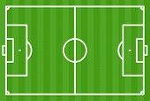 Football Field Green - Vector Illustration